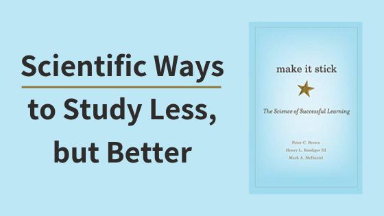 Make it Stick Book Summary